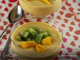 Легкий крем-мусс из манго с рикоттой (творогом)
