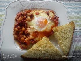 Фасоль с томатами и чоризо