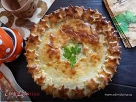 Домашний пирог с картофелем и курицей