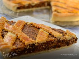 Миндально-шоколадный пирог