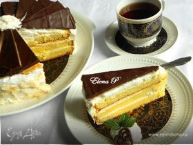 Марципаново-цитрусовый торт