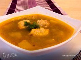 Домашний гречневый суп с фрикадельками
