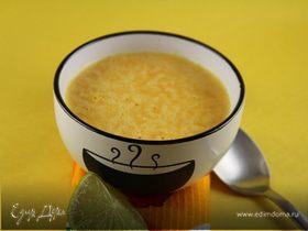 Крем-суп из тыквы с лаймом и куркумой