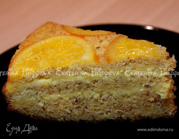 Апельсиновый торт с лимонно-апельсиновым кремом