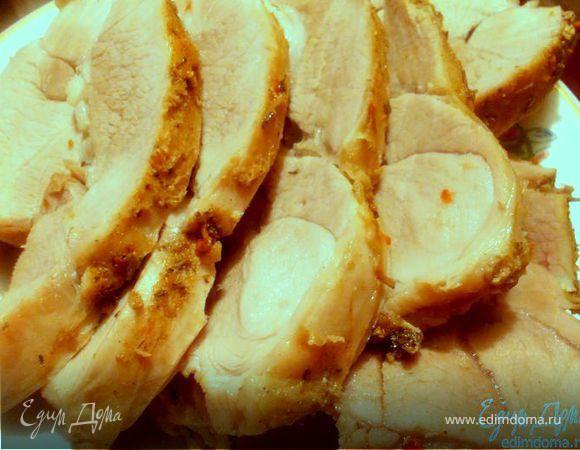 Пряная свинина с чесноком и оливковым маслом