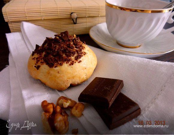 Сконы с шоколадом и орехами