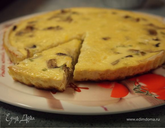 """Киш """"Лорен"""" с грибами и сыром"""