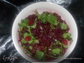 Освежающий свекольный салат