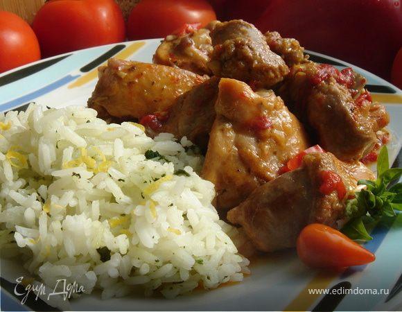 Куриное скарпариелло (Pollo Scarpariello)