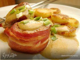 Медальоны из свиной вырезки и картофельные ньокки под сливочно-горчичным соусом