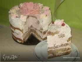 """Торт """"Лилия в снегу"""""""