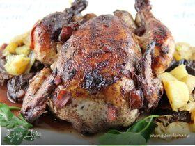 """Курица с черносливом в стиле """"Кокован"""" (""""Coq-au-vin"""")"""