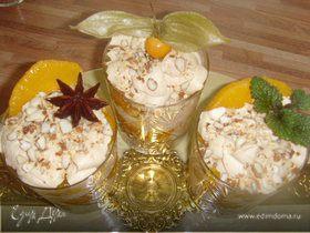 """Десерт """"Оранжевое солнце в бокале"""""""
