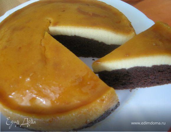 Торт-суфле карамельно-молочный