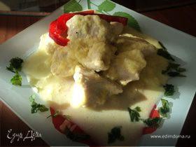 Филе куриной грудки в мангово-сливочном соусе