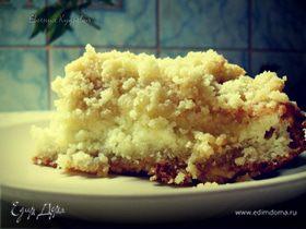 Быстрый песочно-творожный торт