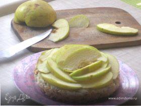 """Творожная запеканка """"Яблочные розы"""" (без пшеничной муки, сахара, жира и сметаны)"""