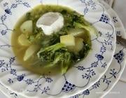 Весенний зеленый суп со спаржей и брокколи