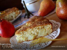 Миндально-грушевый пирог из рисовой муки