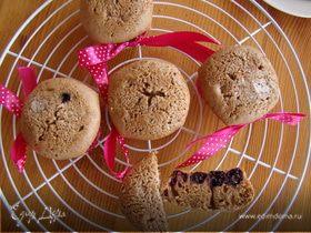 Шоколадные кексы с ежевикой