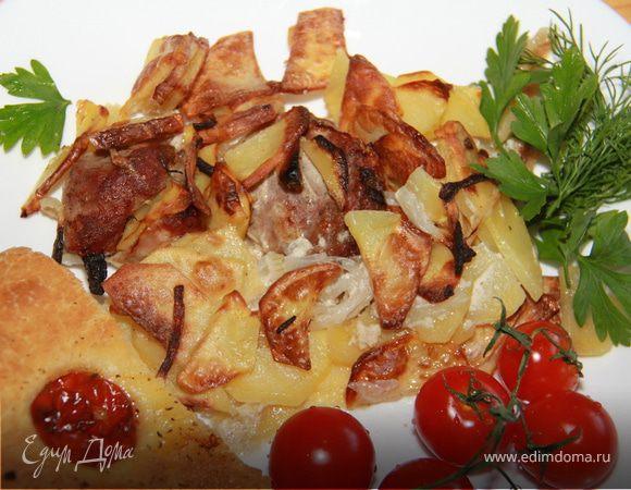Свиная шейка с картошечкой по-деревенски