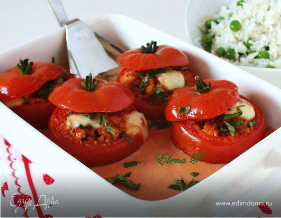 Фаршированные помидоры в остром соусе