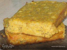 Сочный кукурузно-овсяный кекс с яблоками и грушами