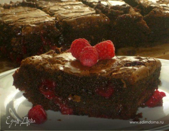 """Мега-грязный шоколадный пирог с вишнями """"Лиза"""""""