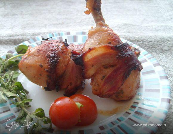 Куриные ножки с беконом