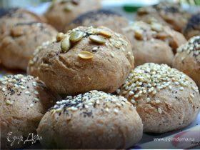 Хлебные булочки с маком, кунжутом и семечками («ШКОЛЬНАЯ ССОБОЙКА»)