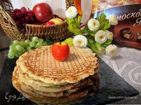 Вафли с яблоком и корицей для вафельницы