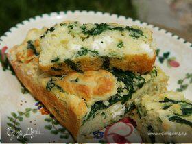 Хлеб с фетой и шпинатом