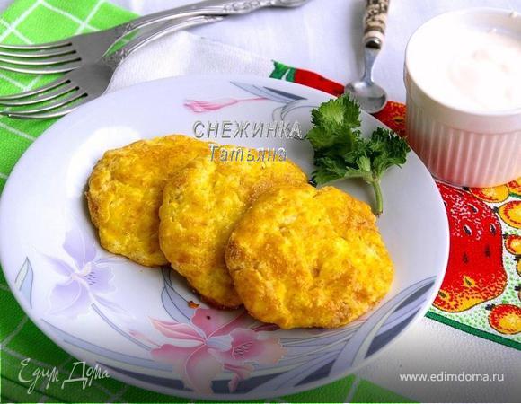 Запеченные нежные сырники из творога и риса