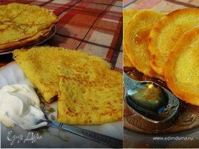 Тонкие кукурузные блинчики с куркумой (+рецепт пышных кукурузных оладий)