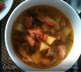 Красный пряный рыбный суп