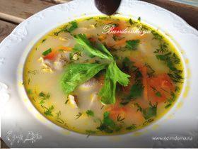 Суп из куриных желудочков с сыром
