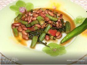 Летний салат с двумя видами фасоли
