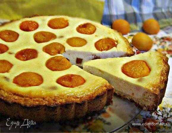 """Творожный пирог с абрикосами """"Глазунья"""""""