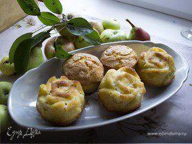 Кексы с яблоком и грушей
