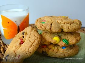 """Печенье """"Радуга"""" с m&m's (Giant Rainbow Cookies)"""