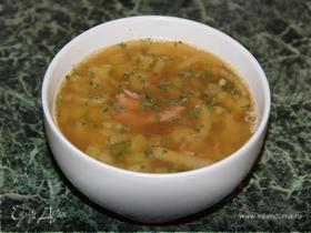 Гороховый суп с сельдереем и тмином