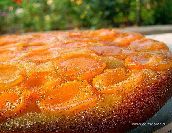 Абрикосовый пирог-перевертыш с апельсиновой карамелью