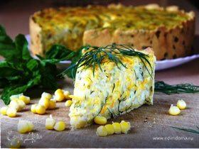 Пирог с рисом и кукурузой