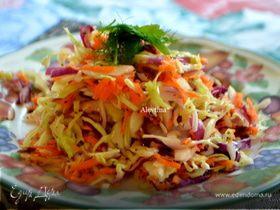 Цветной капустный салат с заправкой