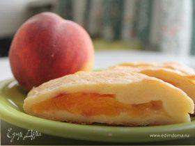 Творожные рулетики с персиком