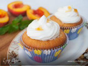 Персиковые капкейки