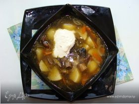 Царский суп с белыми грибами