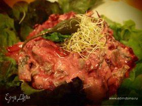 Еврейский салат со свеклой