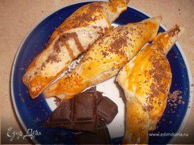 """Фруктово-ореховые рогалики с шоколадом """"Для сладкоежки"""" (""""Школьная ссобойка"""")"""