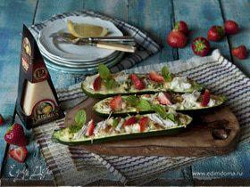 Цукини, запеченный с мятой и сыром Джюгас